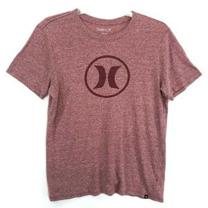 HURLEY Logo T-Shirt Mens Size L Large Faded Red
